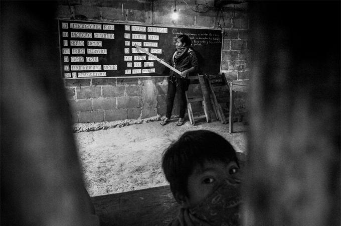 In einer selbstverwalteten Schule in Chiapas (Mexiko). Quelle: kwerfeldein.de