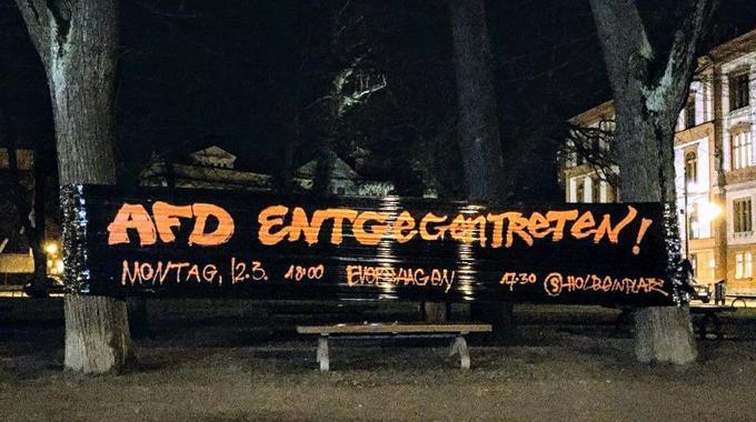 Foto_Graffitiwerbung_NoAfD12Maerz2018Rostock